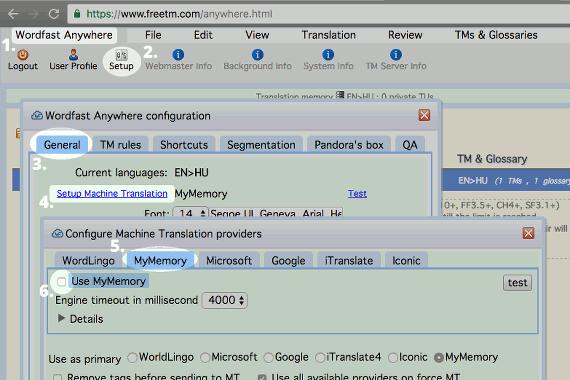Képernyőkép a Machine Translation (MT) letiltásáról